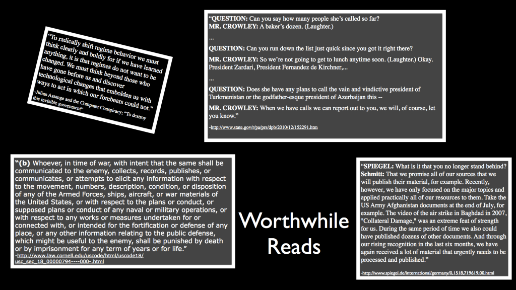 Quotations from Worthwhile Reads