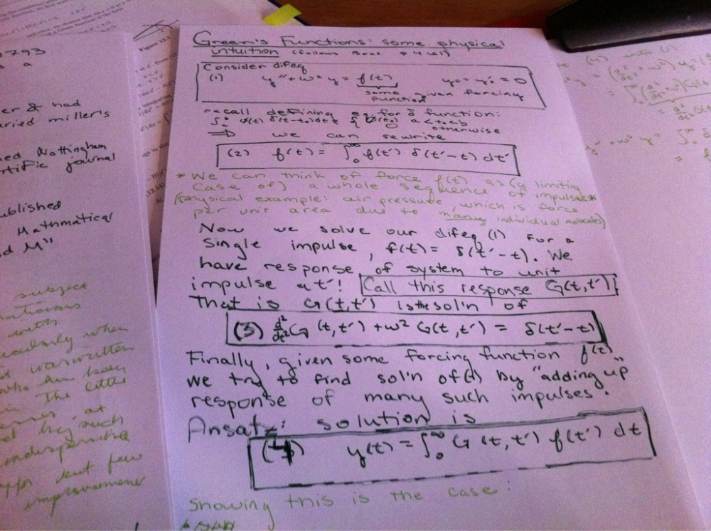 Green's functions (2/2)