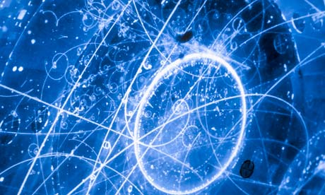 Neutrino tracks Photograph: Dan Mccoy /Corbis